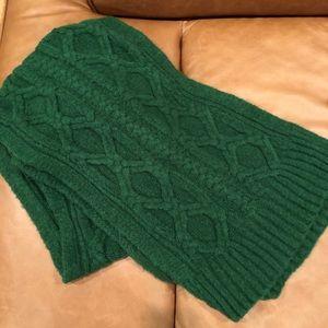 JCrew green wool oversized scarf